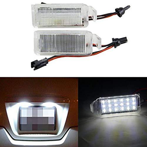 GOFORJUMP 2pcs Lampe de Lampe de Plaque d'immatriculation de Voiture de 18 LED pour F/ord F/alcon FG BA/BF XR 6/8 2003-2008 CSL2018
