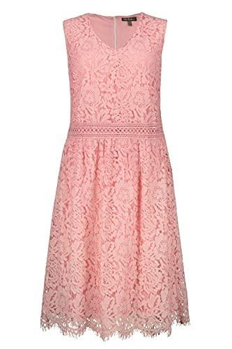 Ulla Popken Damen große Größen Spitzenkleid, ärmellos Kleid, Rosa (Zartrosa 72718556), 44