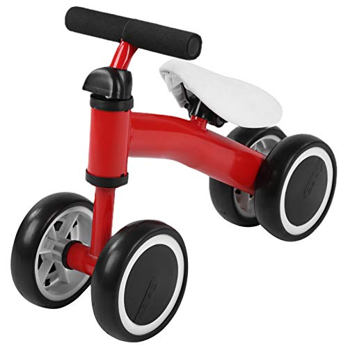 zhoul Baby Infant Balance Bikes, No Pedal 4 Wheels Bicycle For Walker Baby Toddler Learn To Walk (Red)