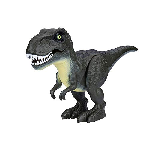 Robo Alive Attacking T-REX Stomping, Biting & Roaring Action Realistic Eyes With Glow in the Dark Scar - Childrens Electronic Robotic Dinosaur Toy - Jungle Green