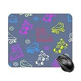 N\A Alfombrilla de ratón Alfombrillas de ratón para Juegos Alfombrilla de Goma Antideslizante con diseño artístico de Patinaje para Ordenadores portátiles