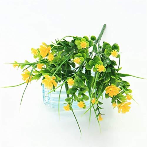 YSQSPWS Kunstblumen 1pcs kleines Bündel Simulation Gladiolen Gypsophila Kunststoff gefälschte Blume im Freien Zaun Bonsai Gras Hauptdekor Blumenarrangement lebensecht (Color : 16)