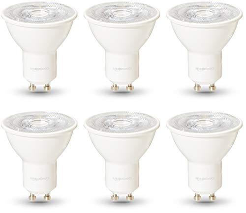 Amazon Basics Professional - LED-Leuchtmittel, GU10-Spot, entspricht 50-Watt-Birne, Warmweiß, dimmbar, 6 Stück