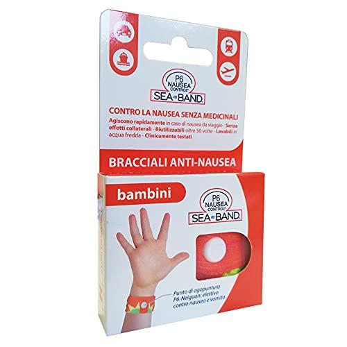 P6 Nausea Control, Bracciali anti-nausea per bambini, 10 gr, Colori assortiti