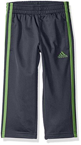adidas Toddler Boys' Tricot Pant, Grey/Green, 2T