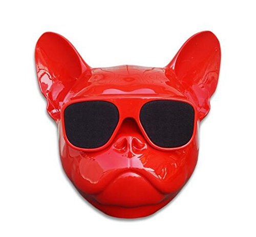 Portable Wireless Bulldog Bluetooth Speaker for Desktop PC/Laptop Notebook/Mobile Phone/MP3/MP4 Player (Red)