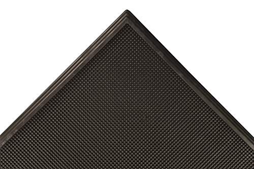 Notrax 346 Sani-Trax Disinfectant Mat, Shoe Sanitizing Mat for Entryways, 24''x32'' Black, 346S2432BL'
