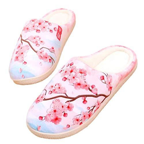 YZJYB Zapatillas Estar por Casa Mujer Hombre Invierno Interior Pantuflas Casa - Caliente Suave Y Antideslizante Clásico Ligero Cómodo Invitados Zapatos,UK 7.5~9/EU 42~44(290)