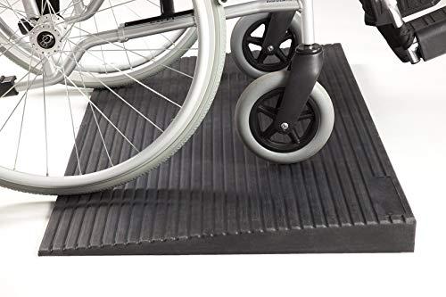 Schwellenrampe Gummi | Gummirampe Budget | Türschwellenrampe - HomeCare Innovation BV (50 x 1000 x 500 mm)