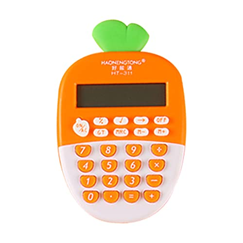 VEILTRON Calculadoras estándar básicas Mini calculadora de Escritorio Digital Pantalla LED de 12 dígitos 1 calculadora Inteligente con Pilas AAA