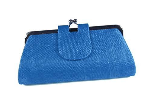 Accessoires-de-Mariage Tasche für Hochzeit, Portemonnaie Sisal (Schwarz, Blau, Grün, Orange, Gelb, Rot, Grau, Elfenbeinfarben), Blau - blau - Größe: Einheitsgröße