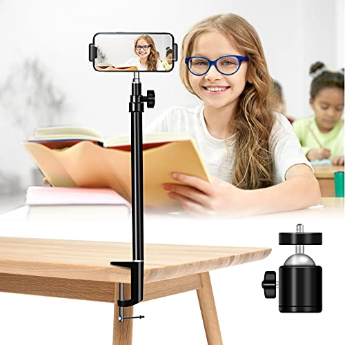 Trípode de luz de mesa ajustable y trípode de luz, trípode de mesa con pinza, trípode móvil, soporte para cámara, soporte para teléfono móvil