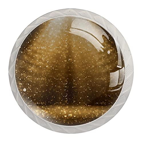 Juego de 4 pomos para iluminación de faros, para armarios de cocina o baño