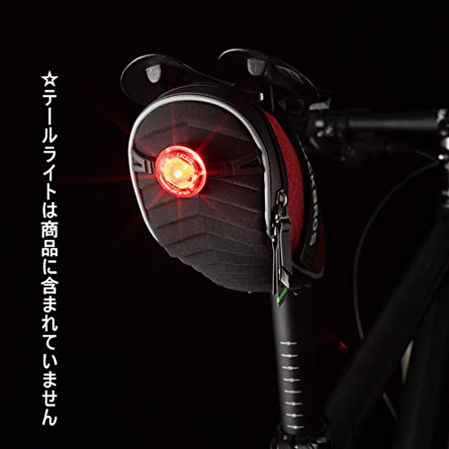 ROCKBROS(ロックブロス)サドルバッグ自転車バッグシートバッグ撥水大容量3Dシェル取り付け簡単反射付き(レッド)