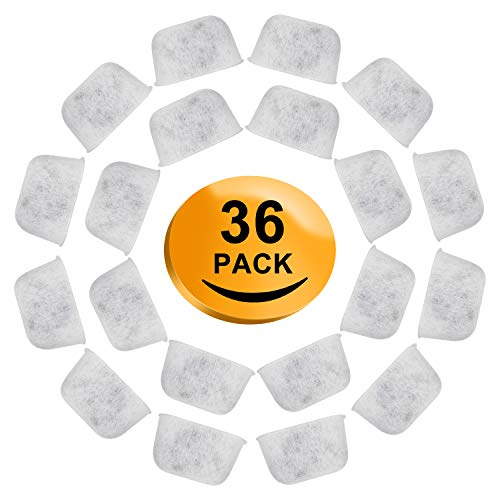 Lirex 36-Pack Charcoal Coffee Filters Compatible for Cuisinart Coffee Machines, Replacement Water Single Cup Coffee Maker Filter Cartridges Cuisinart Coffee Maker Filter Refills Remove Impurities
