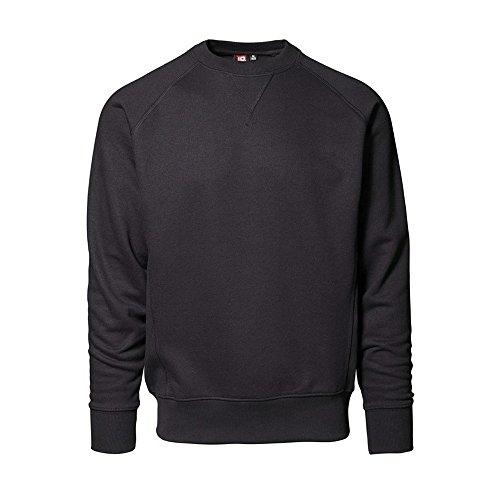 ID Herren Exclusive Pullover, langärmlig (Medium) (Schwarz)