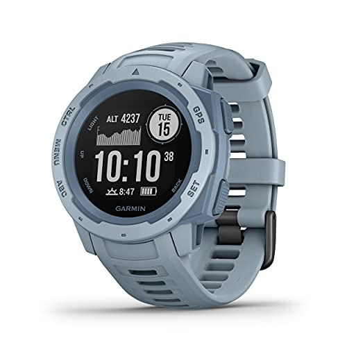 Garmin Instinct - Reloj resistente con GPS, Azul Cielo