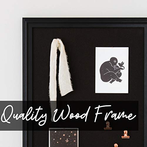Cork Board with Wood Frame, Multiple Sizes | Bulletin Board | Pin Board | Memo Board | Corkboard | Vision Board Supplies | Cork Board | Cork Board Bulletin Board | Cork Boards | (Black, 30X20) Photo #4