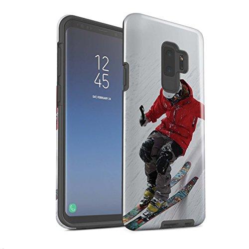 Stuff4 Var voor Skieën/snowboarden SG-3DTBG Samsung Galaxy S9 Plus/G965 Helling Skiën