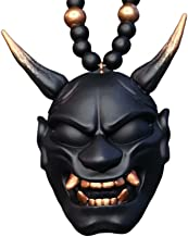 Swhcvj Samurai-Kabuto charme opknoping ornament, Hannya Japanse Oni masker hanger ketting, auto achteruitkijkspiegel charm...