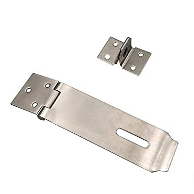 Alamic Padlock Hasp Latch Door Clasp Hasp Lock Latch Stainless Steel Brushed Nickel - 2 Pack