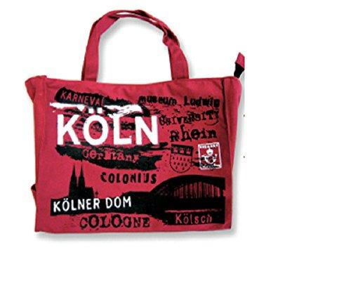Tasche Köln rot Kölner Dom Cologne Kölsch