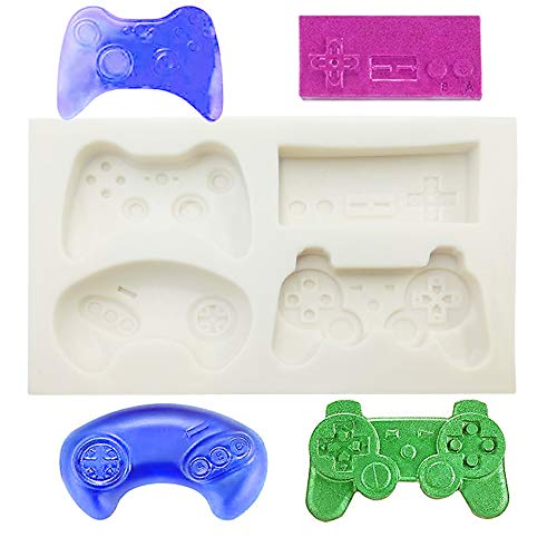 Silicone Fondant Mold, Game Controller Video Game Candy Molds Game pad Fondant Chocolate Baking Molds Tool for Cake Decorating Polymer Clay, Wax, DIY Sugar Crafts