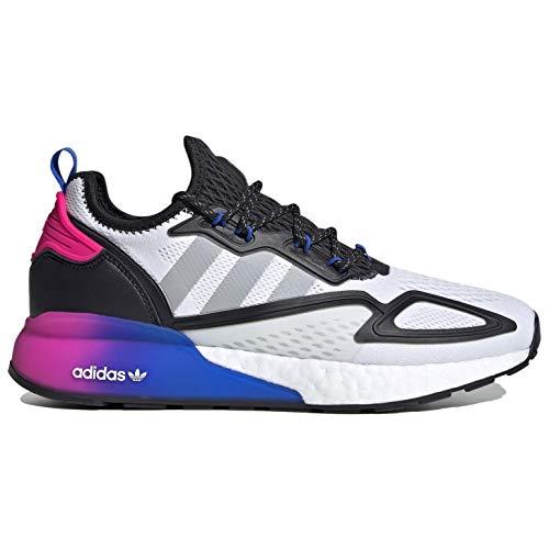 adidas Originals Zx 2k Boost Zapatillas de correr casual para hombre Fx8835, blanco (blanco/gris/negro (White/Grey/Black)), 41 EU