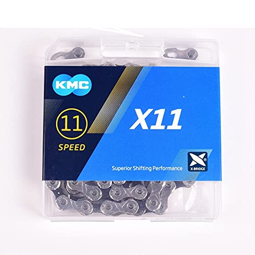 KMC X11 X11.93 Bicycle Chain 118links 11 Speed Sliver/Black