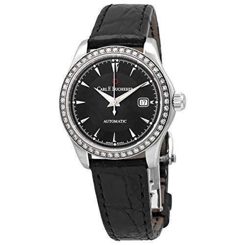 Carl F. Bucherer Manero AutoDate Automatic Diamond Black Dial Watch 00.10911.08.33.11