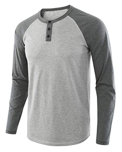 LBL Sweat Shirt Pull Homme Col Rond Respirant Souple Manches Longues pour Printemps Automne Gris XL