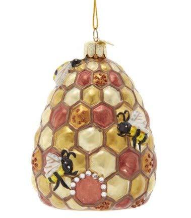 Kurt Adler Noble Gems Bee-Hive Glass Ornament