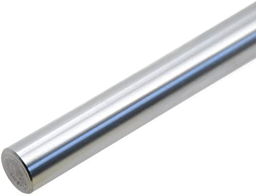 ReliaBot 12mm x 400mm (.472 x 15.75 inches) Case Hardened Chrome Plated Linear Motion Rod Shaft Guide - Metric h8 Tol...