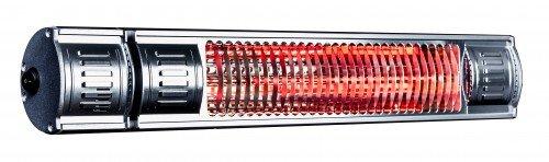 HeizMeister Infrarotstrahler 2000 IP 65 RC mit Fernbedienung silber