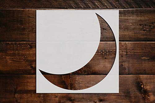 Crescent Moon Stencil DIY Reusable Craft and Painting Wall Stencils - 28 (6'x6')