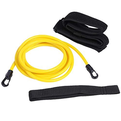 Crazystore Verstellbarer Schwimm-Trainingsgürtel Schwimmtrainer Sicherheitsseil, gelb