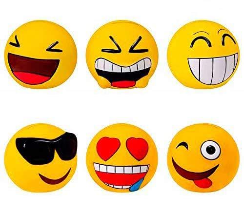 Lote de 20 Huchas Emoticonos - Huchas para Niños, Infantiles, Juveniles, Detalles y Recuerdos Comuniones, Bodas, Cumpleaños, Comunión, Comunion, Cumpleaños
