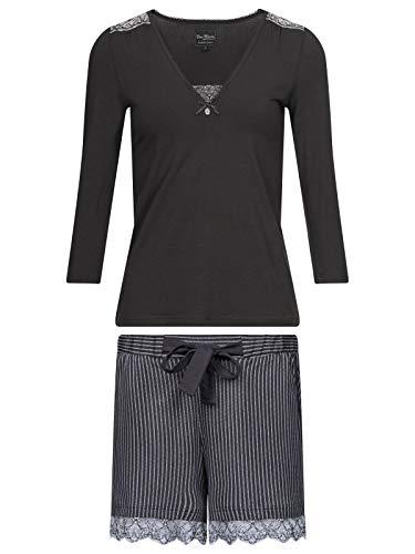 Vive Maria French Look Pyjama Short Darkgrey Allover, Größe:S