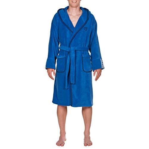ARENA Herren Bademantel Soft Robe Premium, royal Navy, S