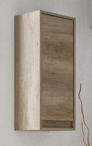 Miroytengo Columna de baño Lavabo suspendida Color nordik con Tirador Integrado diseño Moderno Armario Auxiliar Aseo pequeño 30x26x74 cm