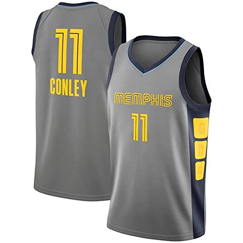 HZHEN NBA Basketball Jersey, Mike Conley 11# Memphis Grizzlies Jerseys Swingman Tejido Transpirable Cool Sleeves Tank Clothing,1,XL (180~185CM / 85~95KG)