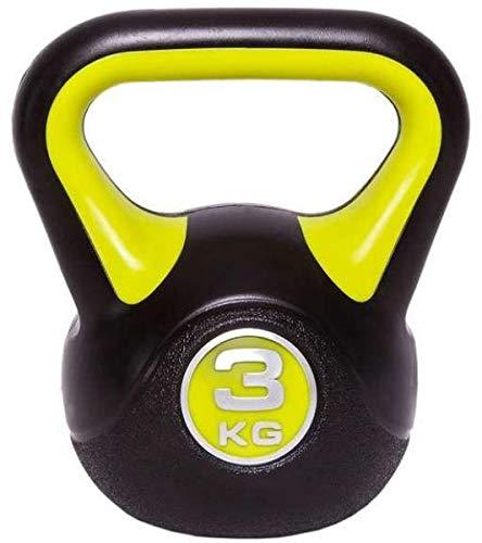 C.P. Sports - Set di pesi con maniglia, kettlebell in vinile, da ginnastica, da 2 kg, 3 kg, 4 kg, 5 kg, 6 kg, 8 kg, 10 kg, 12 kg, 14 kg, 16 kg, 18 kg, 20 kg, 3 KG
