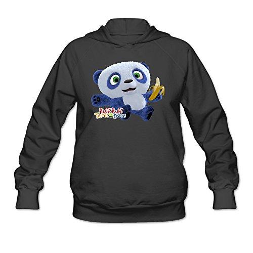 SHUMY Ruff-Ruff Tweet and Dave Women's Cotton Hooded Sweatshirt Black