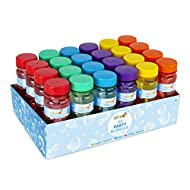 abeec 24 Pack Bubbles Solution - Pack of 24 Party Bubbles with Wands Included - Party Bag Filler or ...