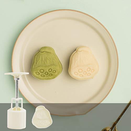 Chenso - Prensador de galletas de plástico Mooncake Mold 50 g con piña Lotus sello manual Chocolate Moon molde DIY Mold molde molde molde de pastel molde para hornear molde medio Autumn Festival