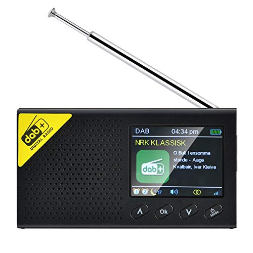 CALIDAKA Portable AM FM Radio Receiver, Functional Bluetooth DAB/DBA+ Digital Radio Stereo Mini Color Screen USB Rechargeable FM Digital Radio with Bluetooth Car MP3 Music Player