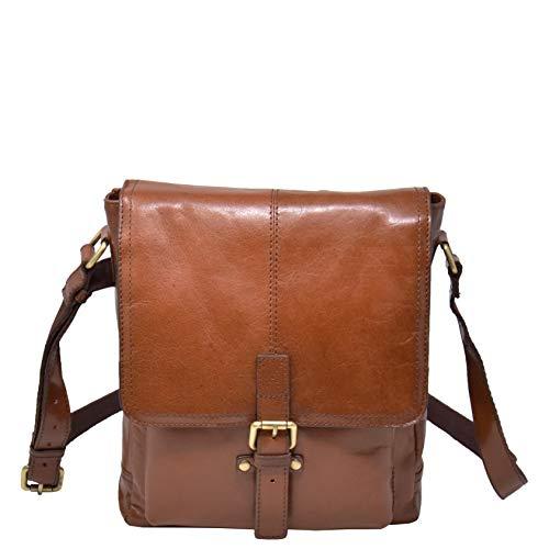 Italian Buffalo Leather Bag iPad Tablet Case Tan DRLB118