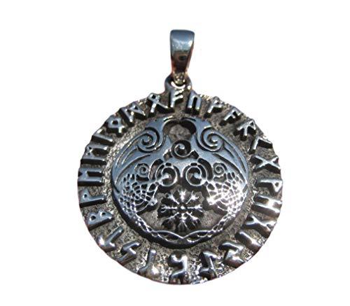 Himalaya Schatten 925 Zilver Viking Runes Raven Huginn Muninn Scouts voor Oden A12