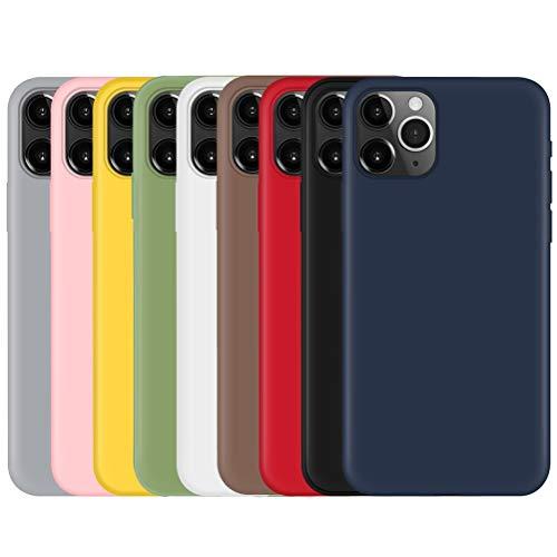 Pnakqil [9 Pack Cover per Apple iPhone 5 / SE / 5s,Custodia in Silicone TPU Slim Cover Case Antiurto Anti-Graffio Ultra Sottile Back Case Cellulare per Apple iPhone 5 / SE / 5s Set di 9 Colori