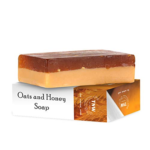 TNW-THE NATURAL WASH Handmade Oats & Honey Moisturizing Soap For Combination Dry Skin A Paraben-Free; Silicon & Sulphate-Free Facial & Body Bathing Bar